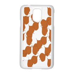 Machovka Autumn Leaves Brown Samsung Galaxy S5 Case (white) by Alisyart