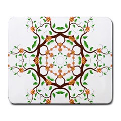 Floral Tree Leaf Flower Star Large Mousepads by Alisyart