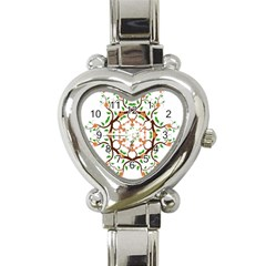 Floral Tree Leaf Flower Star Heart Italian Charm Watch by Alisyart
