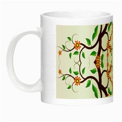 Floral Tree Leaf Flower Star Night Luminous Mugs by Alisyart