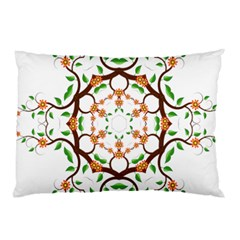 Floral Tree Leaf Flower Star Pillow Case by Alisyart