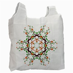 Floral Tree Leaf Flower Star Recycle Bag (two Side)  by Alisyart