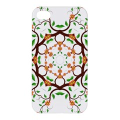 Floral Tree Leaf Flower Star Apple Iphone 4/4s Premium Hardshell Case by Alisyart