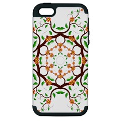 Floral Tree Leaf Flower Star Apple Iphone 5 Hardshell Case (pc+silicone) by Alisyart