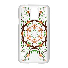 Floral Tree Leaf Flower Star Samsung Galaxy S5 Case (white)