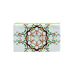 Floral Tree Leaf Flower Star Cosmetic Bag (xs) by Alisyart