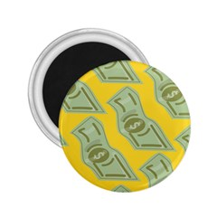 Money Dollar $ Sign Green Yellow 2 25  Magnets by Alisyart