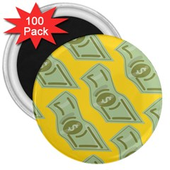 Money Dollar $ Sign Green Yellow 3  Magnets (100 Pack) by Alisyart