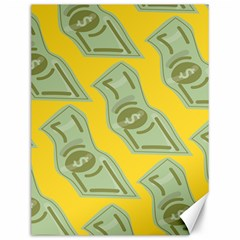 Money Dollar $ Sign Green Yellow Canvas 12  X 16   by Alisyart