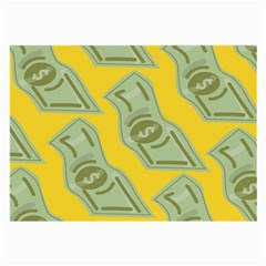 Money Dollar $ Sign Green Yellow Large Glasses Cloth (2 Side) by Alisyart