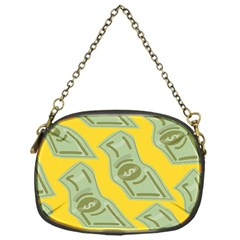 Money Dollar $ Sign Green Yellow Chain Purses (one Side)  by Alisyart