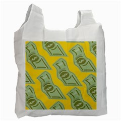 Money Dollar $ Sign Green Yellow Recycle Bag (one Side)