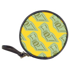 Money Dollar $ Sign Green Yellow Classic 20 Cd Wallets by Alisyart