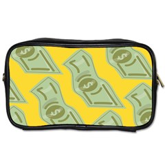 Money Dollar $ Sign Green Yellow Toiletries Bags by Alisyart