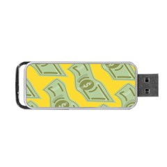 Money Dollar $ Sign Green Yellow Portable Usb Flash (two Sides) by Alisyart