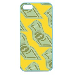 Money Dollar $ Sign Green Yellow Apple Seamless Iphone 5 Case (color) by Alisyart