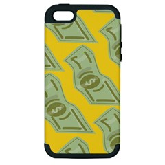 Money Dollar $ Sign Green Yellow Apple Iphone 5 Hardshell Case (pc+silicone) by Alisyart