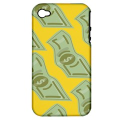 Money Dollar $ Sign Green Yellow Apple Iphone 4/4s Hardshell Case (pc+silicone) by Alisyart