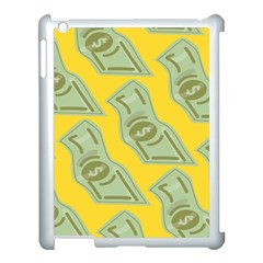 Money Dollar $ Sign Green Yellow Apple Ipad 3/4 Case (white)