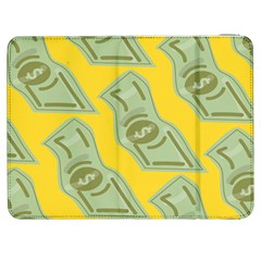 Money Dollar $ Sign Green Yellow Samsung Galaxy Tab 7  P1000 Flip Case