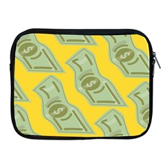 Money Dollar $ Sign Green Yellow Apple Ipad 2/3/4 Zipper Cases by Alisyart