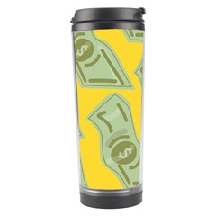 Money Dollar $ Sign Green Yellow Travel Tumbler