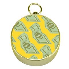 Money Dollar $ Sign Green Yellow Gold Compasses by Alisyart