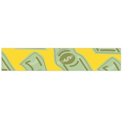 Money Dollar $ Sign Green Yellow Flano Scarf (large)