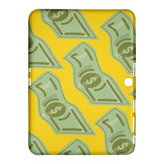 Money Dollar $ Sign Green Yellow Samsung Galaxy Tab 4 (10 1 ) Hardshell Case  by Alisyart