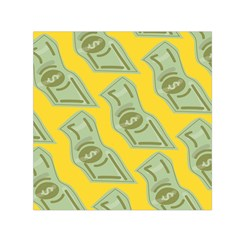 Money Dollar $ Sign Green Yellow Small Satin Scarf (square) by Alisyart