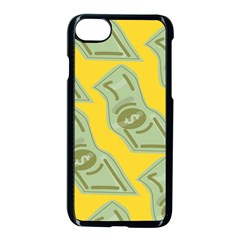 Money Dollar $ Sign Green Yellow Apple Iphone 7 Seamless Case (black) by Alisyart