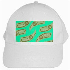 Money Dollar $ Sign Green White Cap by Alisyart