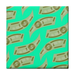 Money Dollar $ Sign Green Tile Coasters by Alisyart