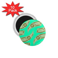 Money Dollar $ Sign Green 1 75  Magnets (10 Pack)  by Alisyart