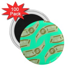 Money Dollar $ Sign Green 2 25  Magnets (100 Pack)  by Alisyart