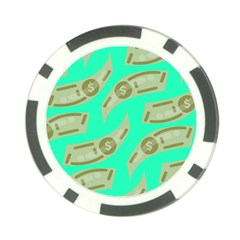 Money Dollar $ Sign Green Poker Chip Card Guard (10 Pack) by Alisyart