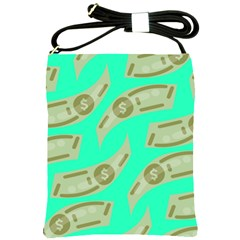 Money Dollar $ Sign Green Shoulder Sling Bags by Alisyart
