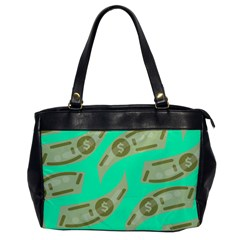 Money Dollar $ Sign Green Office Handbags