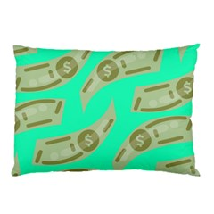 Money Dollar $ Sign Green Pillow Case (two Sides) by Alisyart