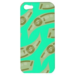 Money Dollar $ Sign Green Apple Iphone 5 Hardshell Case by Alisyart
