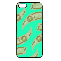 Money Dollar $ Sign Green Apple Iphone 5 Seamless Case (black)