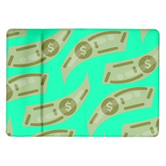 Money Dollar $ Sign Green Samsung Galaxy Tab 10 1  P7500 Flip Case by Alisyart