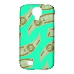 Money Dollar $ Sign Green Samsung Galaxy S4 Classic Hardshell Case (pc+silicone) by Alisyart