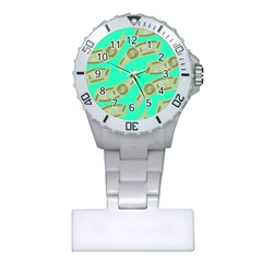 Money Dollar $ Sign Green Plastic Nurses Watch