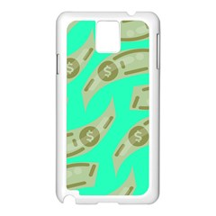 Money Dollar $ Sign Green Samsung Galaxy Note 3 N9005 Case (white) by Alisyart