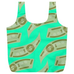 Money Dollar $ Sign Green Full Print Recycle Bags (l)  by Alisyart