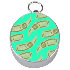 Money Dollar $ Sign Green Silver Compasses by Alisyart
