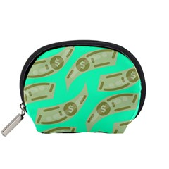 Money Dollar $ Sign Green Accessory Pouches (small)  by Alisyart