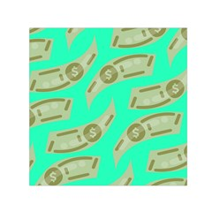 Money Dollar $ Sign Green Small Satin Scarf (square)
