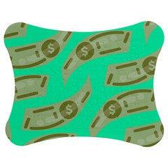 Money Dollar $ Sign Green Jigsaw Puzzle Photo Stand (bow) by Alisyart